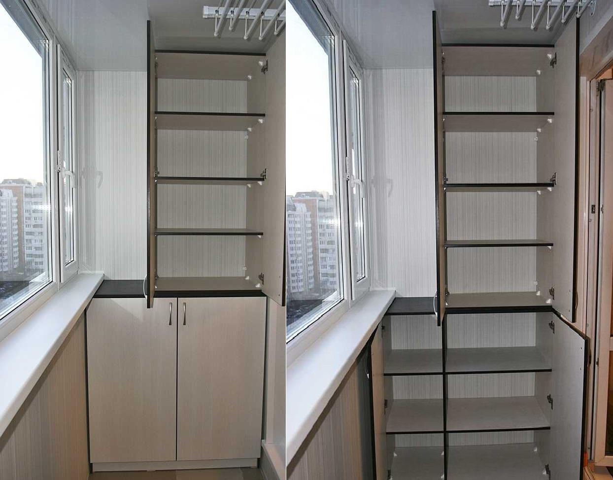 Как сделать шкаф на балконе своими руками: изготовление и сб.