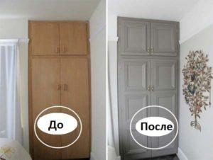 Окрашивание шкафа