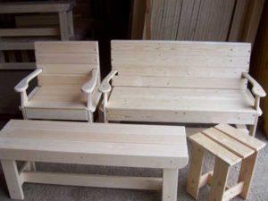 Как сделать деревянную мебель для бани