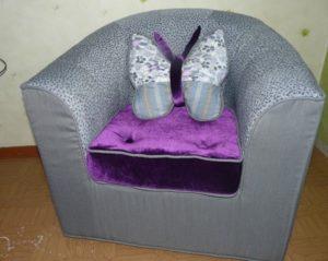 Детское мягкое кресло своими руками