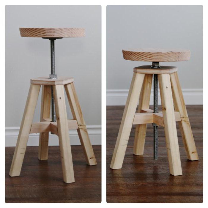 Как самому сделать стул из дерева