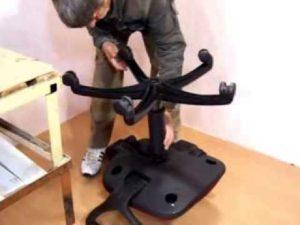 самому разобрать компьютерный стул