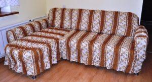 Как самостоятельно сшить чехол на угловой диван