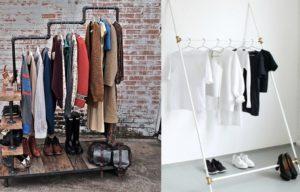 Как сделать вешалку для одежды разных типов