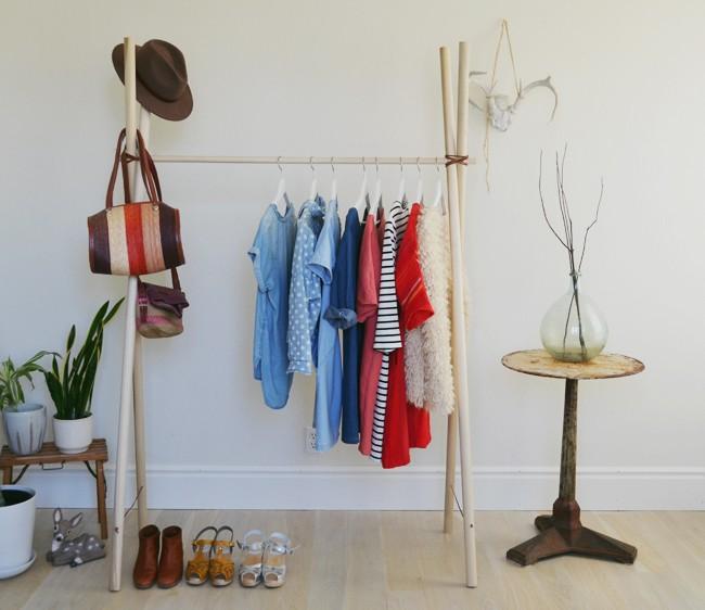 Деревянная вешалка для одежды своими руками фото