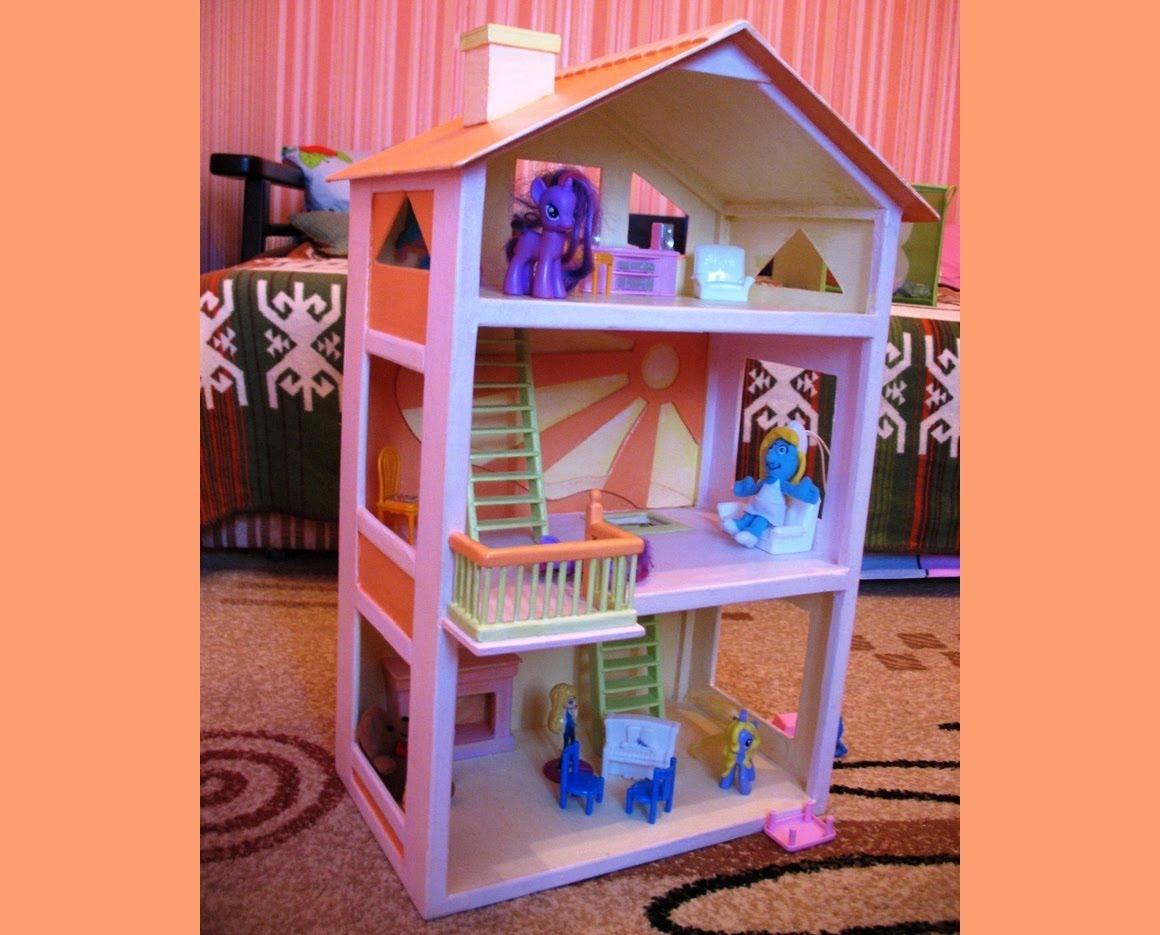 Как сделать куклам дом своими руками фото 140