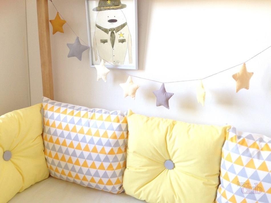 Бортики в кроватку в виде подушек своими руками размеры