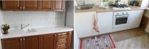 Этапы крепления столешницы в кухонном гарнитуре