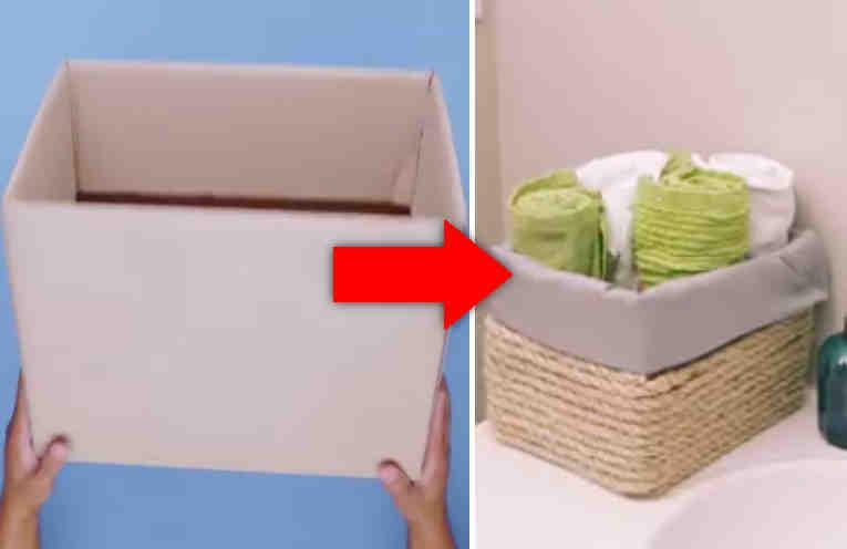 Украшаем коробки для хранения своими руками 30