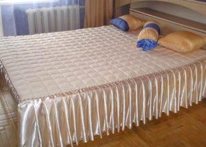 сшить покрывало на кровать своими руками