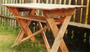 собрать стол из досок своими руками