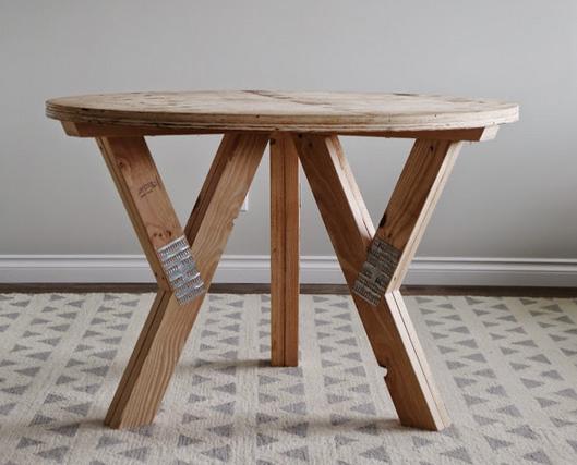 Круглый стол кухонный своими руками 866