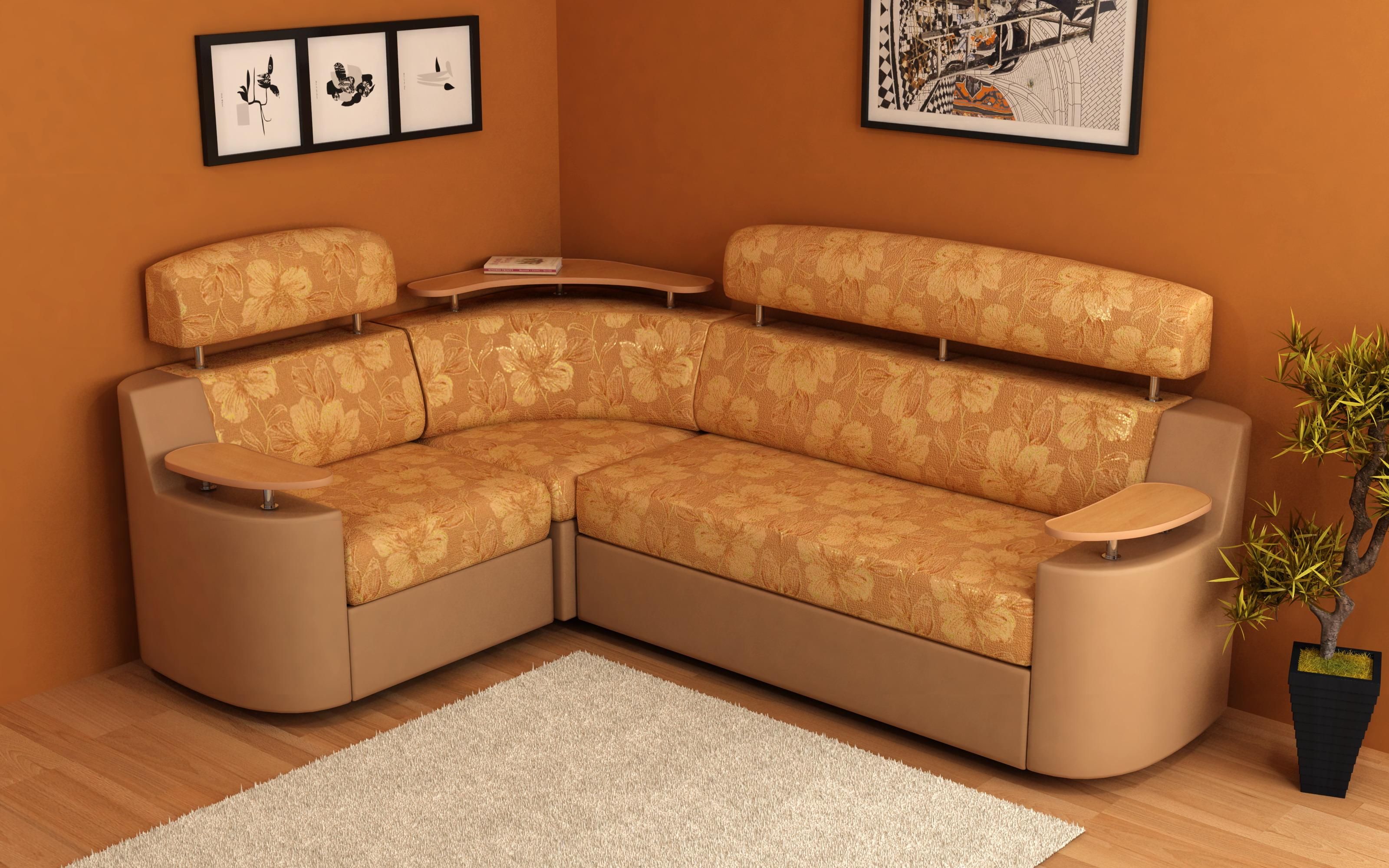 какие существуют размеры маленьких угловых диванов параметры