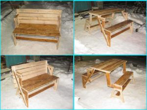 скамейка-стол своими руками