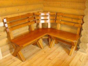 Скамейка в баню